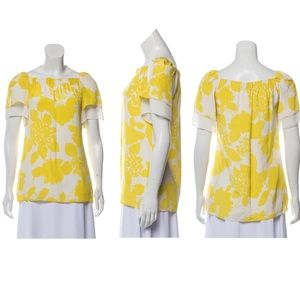 3.1 Phillip Lim Yellow Floral Silk Blouse